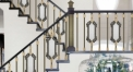 vintage design luxury aluminum stair railing, antique green plating fence