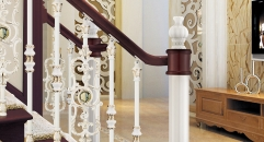 simple European design classical aluminum stair railing, beige plating fence