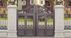 luxury villa outside gate, security aluminum door