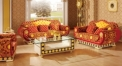 luxury Italy style wood carving coffee table and sofa set