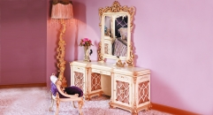 luxury European style woodcarving Dressing Table,Dressing Mirror, Dressing Chair