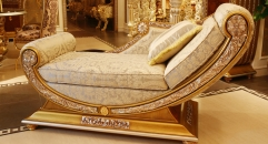 luxury European style woodcarving royal chair, chaise lounge