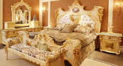 luxury European style woodcarving bedroom set, dresser set