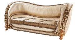 classical Baroque style wood carving rose 3 seater sofa