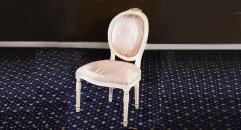 classical Baroque style wood carving armless chair, dining chair