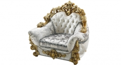antique Baroque style wood carving single chair, arm seat chair, armchair