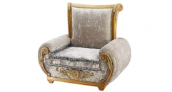 antique Baroque style wood carving single chair, sofa, armchair