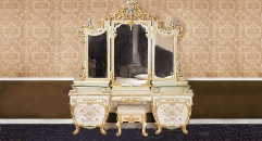 antique Baroque style wood carving dressing table, dresser