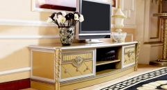 luxury new classical style wood carving TV stand/ cabinet