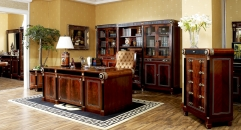 luxury new classical style wood carving home office desk