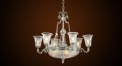 Luxury antique crystal chandelier, cup shaped lampshade