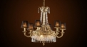Luxury crystal chandelier with lampshade,bronze residential lighting,pendent lamp