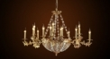 Luxury antique candle shape crystal chandelier,residential lighting,pendent lamp,copper gold plated