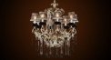 Antique black and white crystal chandelier(big size),residential lighting,copper pendent lamp