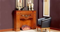 modern style exquisite workmanship fireplace, surround chair