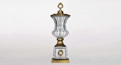 exquisite display coper and glass art decoration, antique european style trophy, luxury home decoration