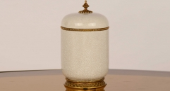 exquisite porcelain and copper jar, Mascot home decoration, unisex ceramic and enamel display good