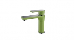 superior European Style Single Handle single hole Bathroom Faucet, dynamic color and chrome copper basin mixer