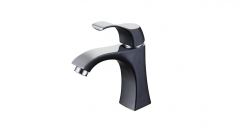 classical European Style Single Handle single hole Bathroom Faucet, black and chrome color copper basin mixer