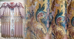 Modern Embroidery Luxurious Curtain Customized Quality Fabric Curtains Transparent Gauze