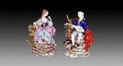 European style colorful glazed porcelain home decoration, happiness lovers decoration item