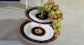 exquisite workmanship royal bone china 2 layer porcelain style tray, double layer sun head decoration fruit plate