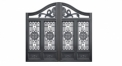 noble black villa outside gate, flowers carving security aluminum door