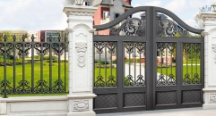 outside gate, security aluminum door